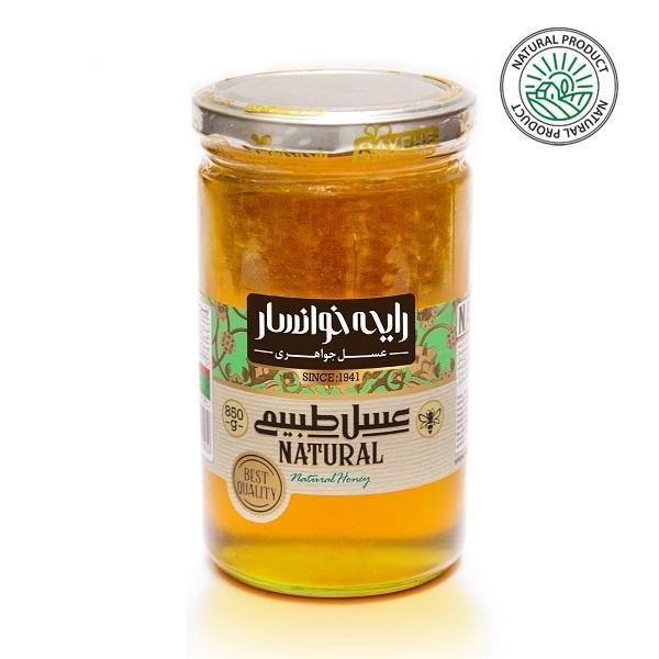 عسل طبیعی با موم 850 گرمی رایحه خوانسار