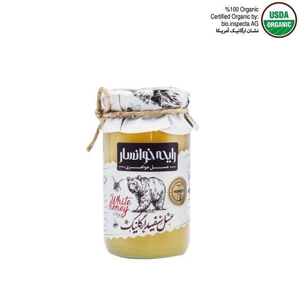 عسل سفید ارگانیک یا کریستالیزه کوچک رایحه خوانسار